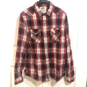 Vans Button up Long Sleeve Mens Large
